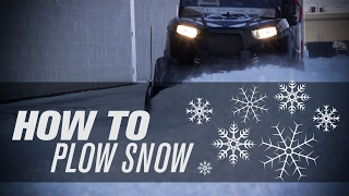 10. How to Plow Snow with a UTV �