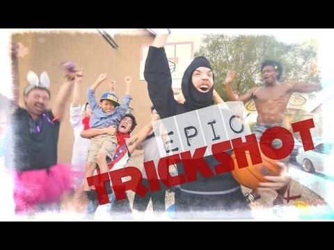 Nigahiga. Русская озвучка. The Ultimate Trickshot Dunk! / Супер Трюк С Забрасыванием Мяча! (видео)