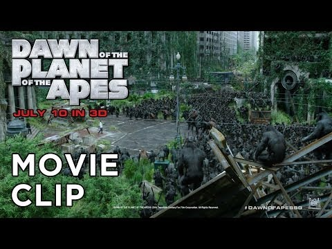 "Dawn of the Planet of the Apes [Movie Clip ""Apes Don't Want War in HD (1080p)]"