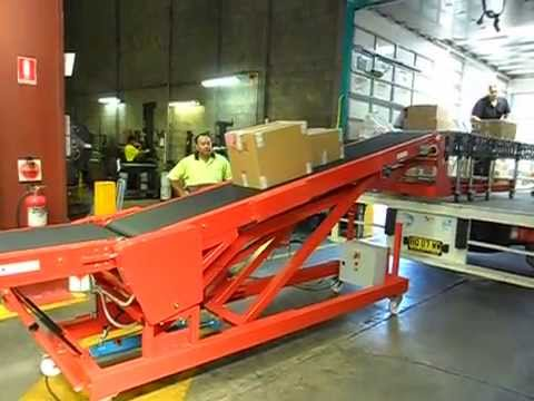 Simple operation of vehicle loading conveyors
