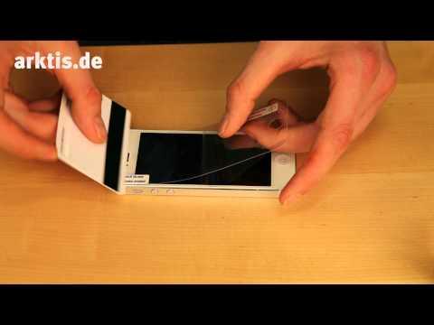 Anleitung: iPhone 5 5s 5c Display Schutzfolie sauber aufbringen!