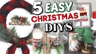 5 Dollar Tree Christmas Decor Projects | DIY Dollar Store Christmas Decor | Krafts by Katelyn