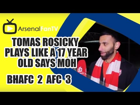 Like - Tomas Rosicky Plays Like A 17 Year Old says Moh - Brighton 2 Arsenal 3 AFTV ONLINE SHOP : http://goo.gl/rin8oW AFTV APP: IPHONE : http://goo.gl/1TNrv0 AFTV APP: ANDROID: ...