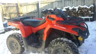 7. Can am outlander L 450 cold start