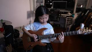 MiuMiu at eight years old birthday – Pachelbel's Canon in D, in rock guitar
