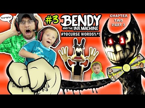 DAD CAPTURED! Bendy and the Ink Machine #3 Haunts Our House FGTEEV Chapter 2 Boss 👹 SCARY Kids Game (видео)