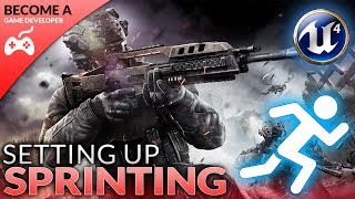 In today's video we show you how you can make your FPS character sprint, going over exactly how we can setup a sprint state inside of our blueprint and tell it to play our animations for sprinting.Unreal Engine 4 Beginner Tutorial Series:https://www.youtube.com/playlist?list=PLL0cLF8gjBpqDdMoeid6Vl5roMl6xJQGCBlueprints Creations Serieshttps://www.youtube.com/playlist?list=PLL0cLF8gjBpoojQ7YqsSsxycBe5S3ikkV► Next VideoIn the next video we'll continue to bring our shooter game to life.♥ Subscribe for new episodes weekly! http://bit.ly/1RWCVIN♥ Don't forget you can help support the channel on Patreon! https://www.patreon.com/VirtusEduVirtus Learning Hub // Media● Facebook Page - https://www.facebook.com/VirtusEducation●Twitter Page - http://www.twitter.com/virtusedu● Website - http://www.virtushub.co.uk