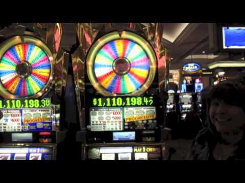 $5 Wheel of Fortune Slot Machine-big win at end- 7 Bonuses