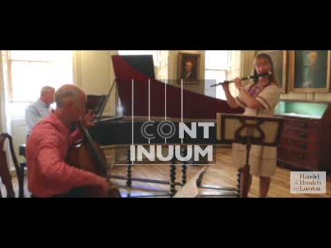 G.F. Handel Flute sonata in B minor opus 1 no 9 - Continuum