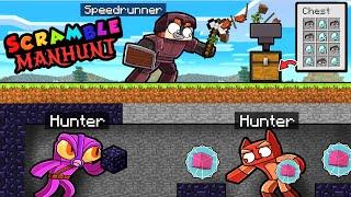 Manhunt SCRAMBLE CRAFT 1.16.4! (Speedrunner vs 2 Hunters)