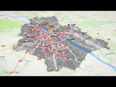 Mapa Warszawy 3D model