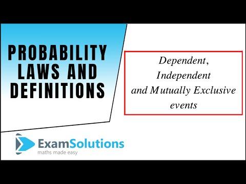 Probability Gesetze und Definitionen (Zusammenfassung): ExamSolutions