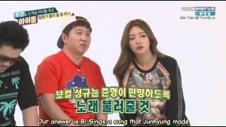 [ENGSUB] 140820 Weekly Idol: INFINITE Sunggyu / Beast Junhyung