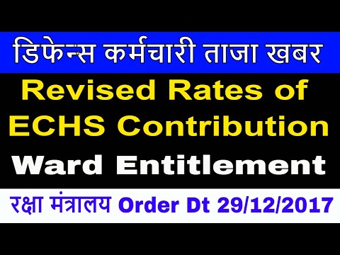 7th Pay Revised ECHS Contribution Rates and ward Entitlement #Govt Employees News