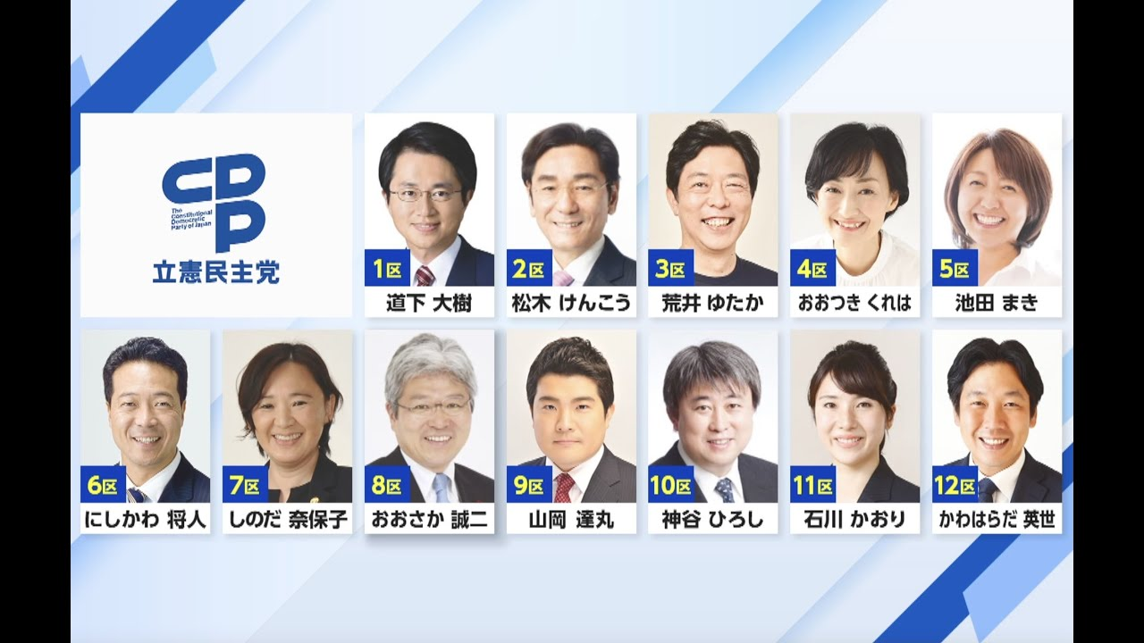 「第49回衆議院議員選挙」北海道で立候補した12人の小選挙区立候補者を紹介します!