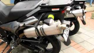 10. leo vince vs stock exhaust  head to head on two dl1000 v-stroms - the definative test.MOV