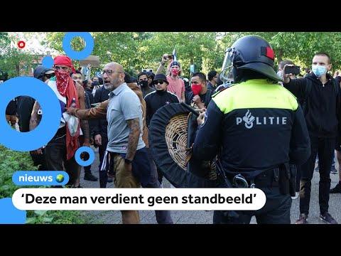 Protesten en rellen bij standbeeld J.P.  Coen in Hoorn