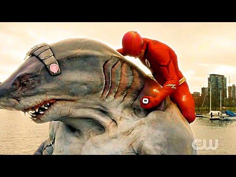 The Flash 5x15 - flash Injects Killer Shark | season 5 episode 15
