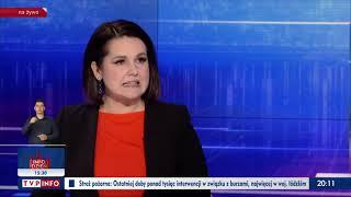 Prezenterka TVPIS nie dowierza, że ktoś śmie krytykować Nowy Ład.