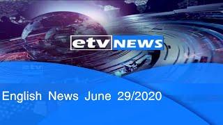 English News June 29/2020|etv
