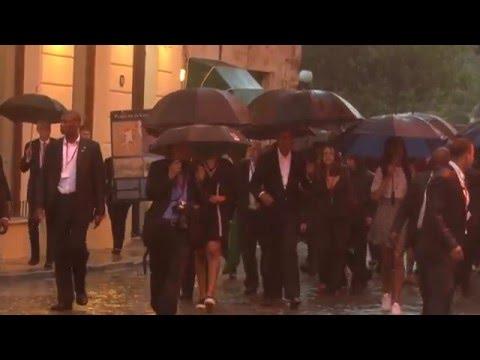 Barack Obama visita La Habana vieja