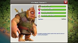 Video Clash Of Clans - NEW TROOP!!! CHALLENGE!!! CYCLOPS GIANT (Create your own) MP3, 3GP, MP4, WEBM, AVI, FLV Agustus 2017