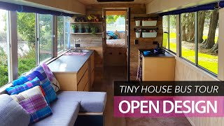Video School bus conversion small home | tour | Off-grid family tiny house MP3, 3GP, MP4, WEBM, AVI, FLV Juli 2019