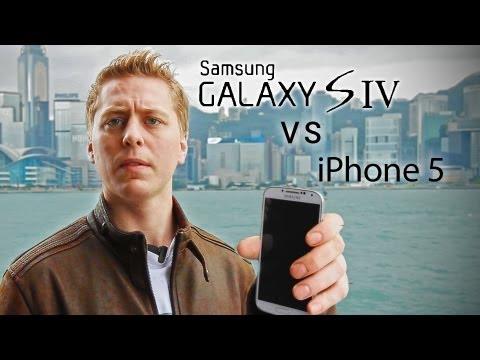 Galaxy S4 vs iPhone 5 摔機測試,哇嗚~