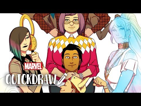 Artist Kris Anka Draws The Runaways -- Marvel Quickdraw