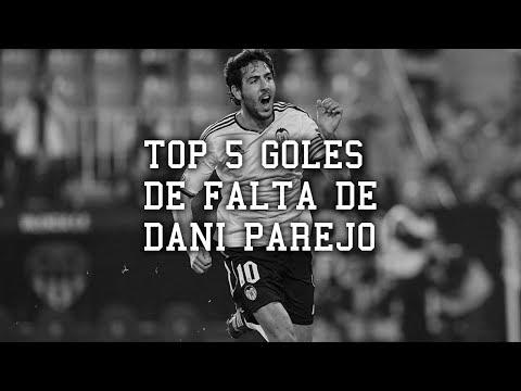 TOP 5 Goles de falta de Dani Parejo con el Valenci...