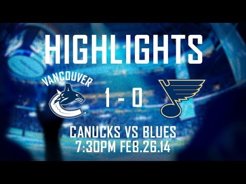 Canucks - The Vancouver Canucks found a way to win against the St. Louis Blues with a third period goal from Jannik Hansen and great goal tending by Eddie Lack. Subscr...