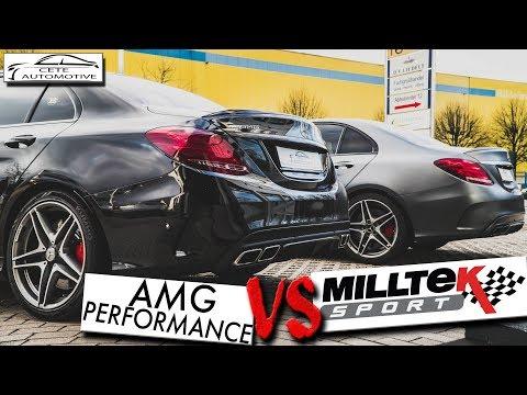 C63 AMG PERFORMANCE ABGASANLAGE vs MILLTEK EXHAUST SOUND   Cete Automotive