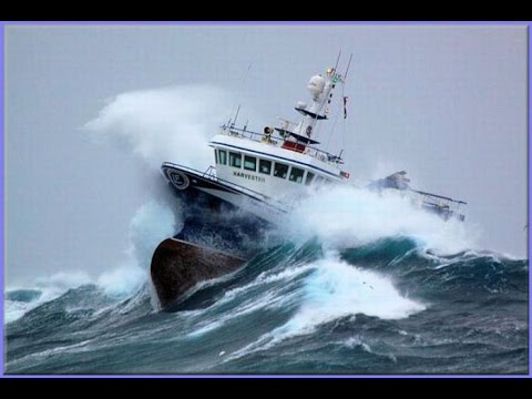 SHIPS IN STORM COMPILATION  -MONSTER WAVES
