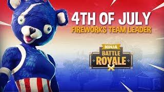 NEW 4th of July Fireworks Team Leader Skin! - Fortnite Battle Royale Gameplay - Ninja