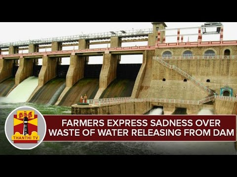 Farmers-Express-Sadness-Over-Waste-of-Releasing-Water-From-KRP-Dam--Thanthi-TV