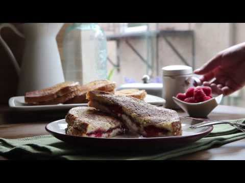 Breakfast Recipe: How to Make French Toast Stuffed with Cream Cheese, Jam and Raspberries