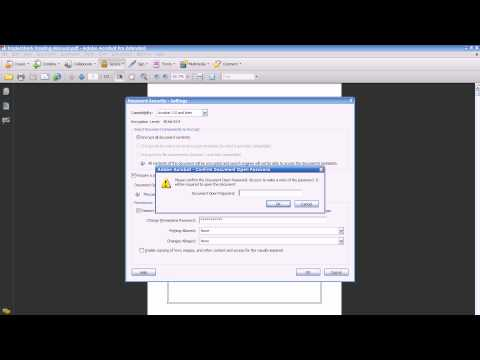 how to provide security to pdf file