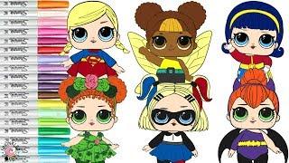 Video LOL Surprise Dolls Transform Into DC Superhero Girls Coloring Book Compilation Wonder Woman Batgirl MP3, 3GP, MP4, WEBM, AVI, FLV April 2019