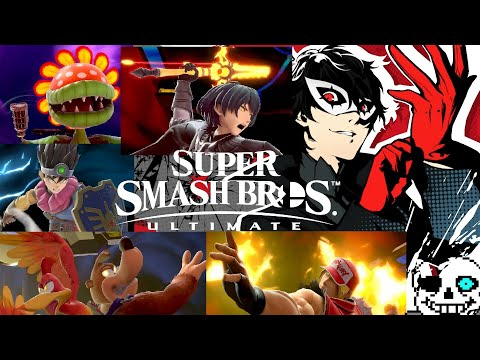 Super Smash Bros Ultimate - All Fighter Pass 1 DLC Characters Final Smashes!