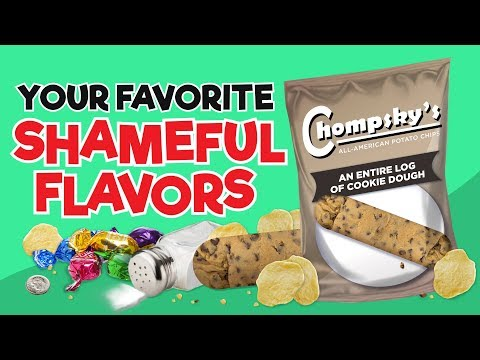 Your Favorite Shameful Flavors As Chips! (видео)