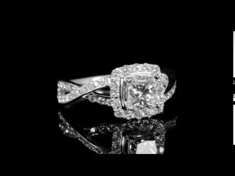 GIA Certified 1.01ct Cut Cornered Square Brilliant Cut 'Internally Flawless' Diamond Ring