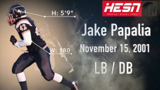 Jake Papalia (LB/DB) Class 2019 - 2016 NCAFA Highlights