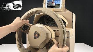 Video How to Make lamborghini Gaming Steering Wheel from Cardboard MP3, 3GP, MP4, WEBM, AVI, FLV September 2018