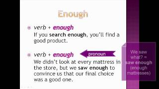 Too enough, Common Mistakes in English Lesson 9, Part 2