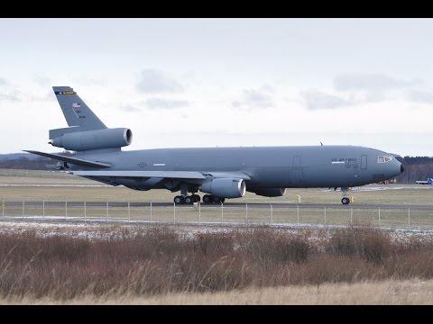 This two KC-10A Extender USAF tanker...