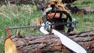 Video Getting Firewood? Chainsaw Measuring Tool -- NO MARKING, JUST CUTTING! MP3, 3GP, MP4, WEBM, AVI, FLV Juli 2018