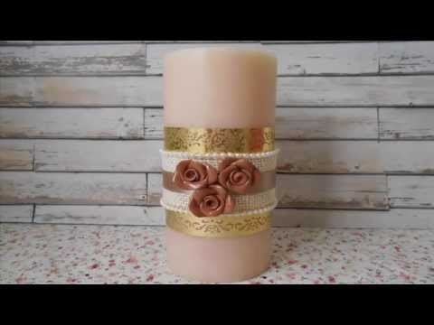shabby chic – come decorare una candela