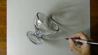 Drawing a Dessert Glass 3D Art