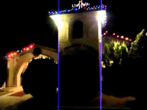 The Decorated Christmas Lights of St. Francis Cabrini Catholic Church in Camp Verde, Arizona.MP4