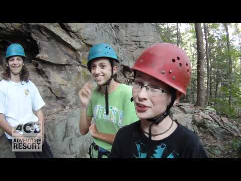 Rock Climbing and Rappelling in West Virginia GoPro HD POV